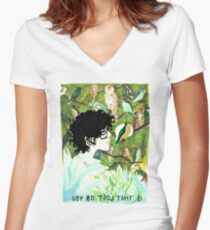 let's raise a glass or two Women's Fitted V-Neck T-Shirt