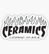 Ceramics: License to Kiln with Flames Sticker