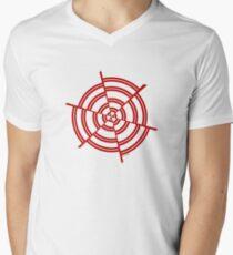 Mandala 2 Colour Me Red  Mens V-Neck T-Shirt
