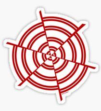 Mandala 2 Colour Me Red  Sticker