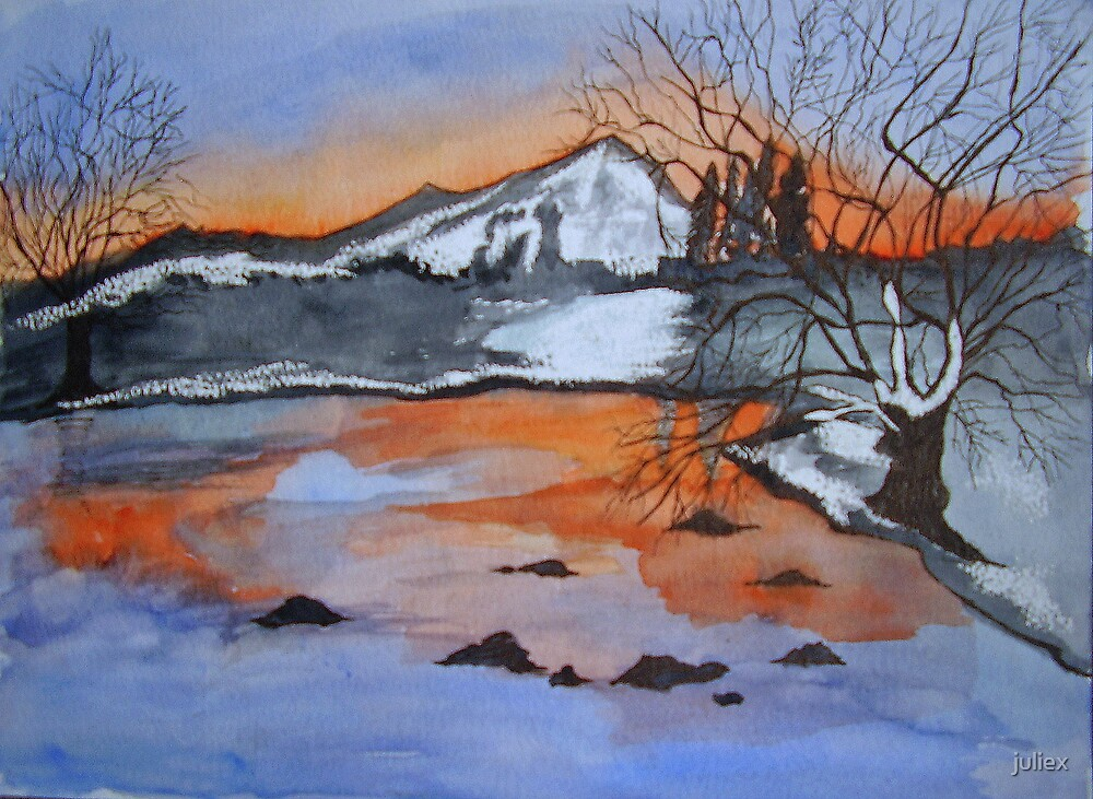 Mountain Sunset by juliex