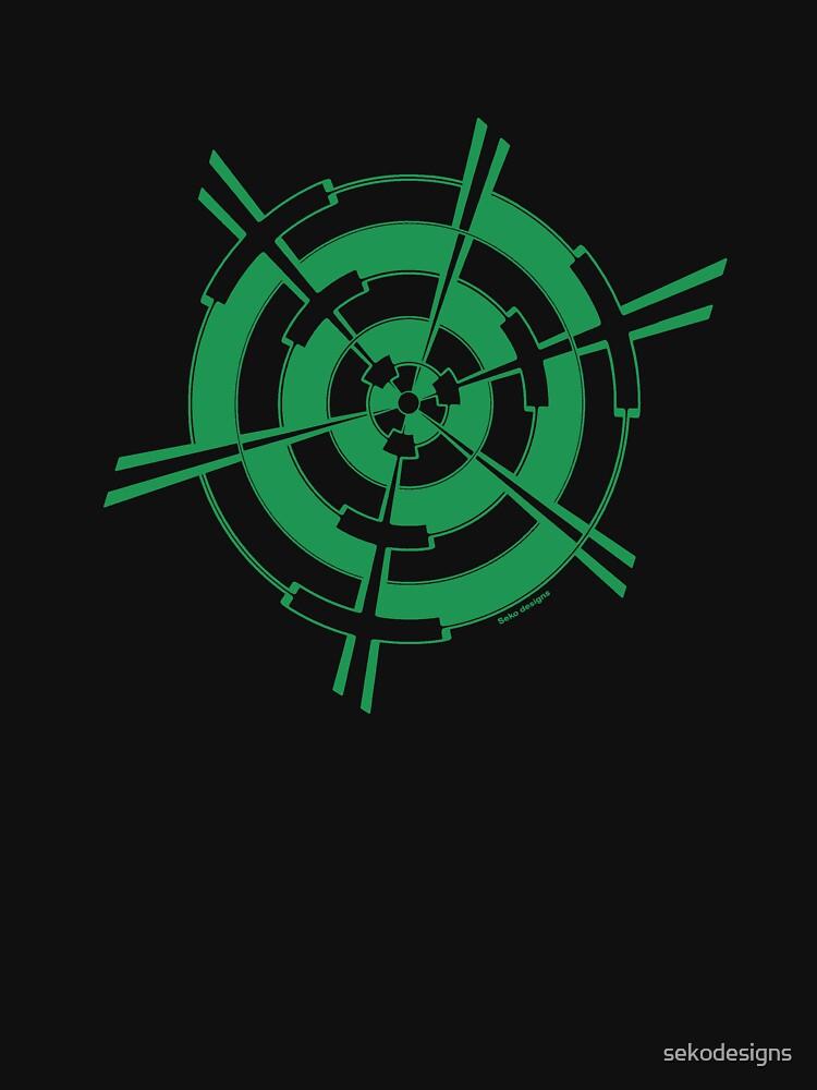 Mandala 3 Green With Envy  by sekodesigns