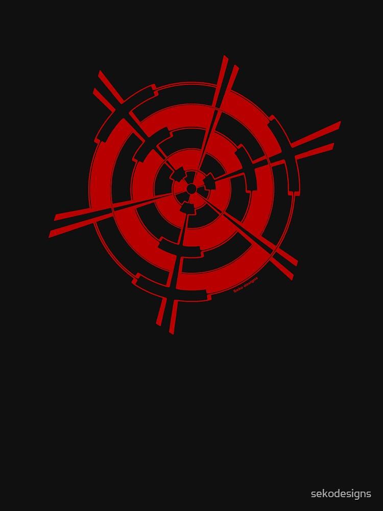 Mandala 3 Colour Me Red by sekodesigns