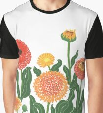 Red, yellow, and orange floral pattern no.2 Graphic T-Shirt
