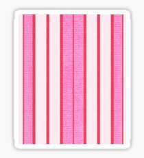 Pink Stripes Textured Pattern  Sticker