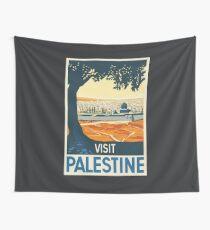 Vintage Travel Poster Visit Palestine Wall Tapestry