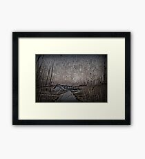 Another morning at the lake Framed Print