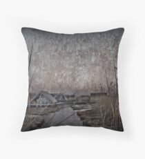 Another morning at the lake Throw Pillow