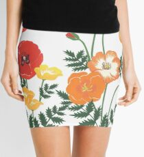 Red, yellow, and orange floral pattern no.3 Mini Skirt