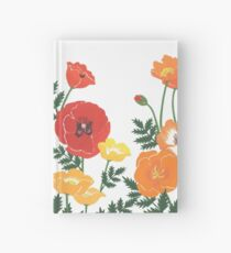 Red, yellow, and orange floral pattern no.3 Hardcover Journal
