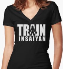 TRAIN INSAIYAN - Deadlift ICONIC Women's Fitted V-Neck T-Shirt