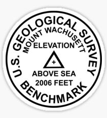 Mount Wachusett, Massachusetts USGS Style Benchmark Sticker