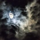 Moon and Jupiter by Kenneth Haley
