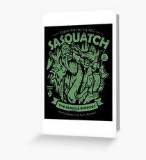 Sasquatch - Cryptids Club Case file #077 Greeting Card