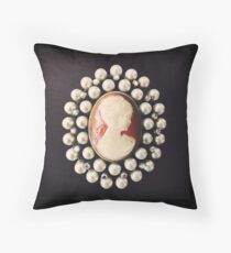 Classic Vintage Cameo Throw Pillow