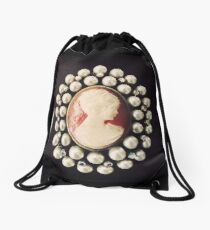 Classic Vintage Cameo Drawstring Bag
