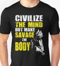 Make Savage The Body - Ripped Saiyan Back Unisex T-Shirt