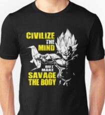 Make Savage The Body - Vegeta Squat - Leg Day Unisex T-Shirt
