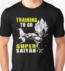 Training To Go Super Saiyan - Vegeta Squat - Leg Day T-Shirt