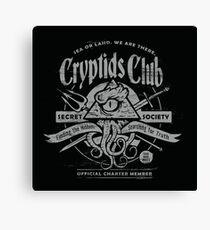 Cryptids Club (Dark Shirt Version) Canvas Print