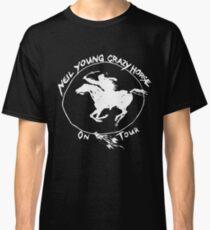 Camiseta clásica TOUR NEIL YOUNG CRAZY HORSE TELUR NEGRO