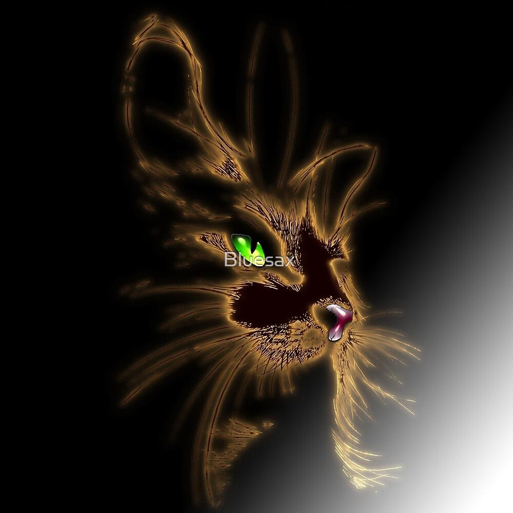 Gold Cat by Bluesax by Bluesax