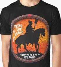TOUR NEIL YOUNG CRAZY HORSE TELUR COLOR Graphic T-Shirt