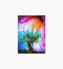 Lone tree on moors in acrylics Art Board