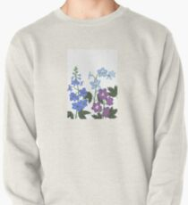 Delicate blue and purple flowers Pullover