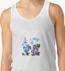Delicate blue and purple flowers Tank Top