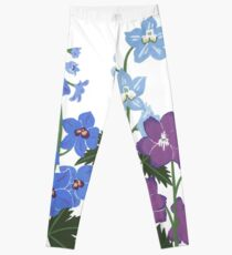 Delicate blue and purple flowers Leggings