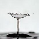 martini glass splash by Don Cox