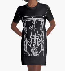 The Hanged Man in Reverse Graphic T-Shirt Dress