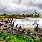 Abandoned boat, Saltmills, Co. Wexford, Ireland by David Carton