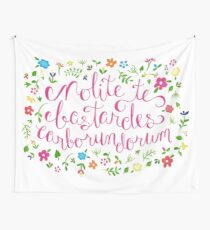 Don't Let the Bastards Grind You Down - Rainbow Floral Wall Tapestry