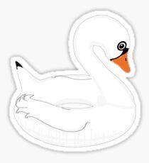 Swan Float Sticker