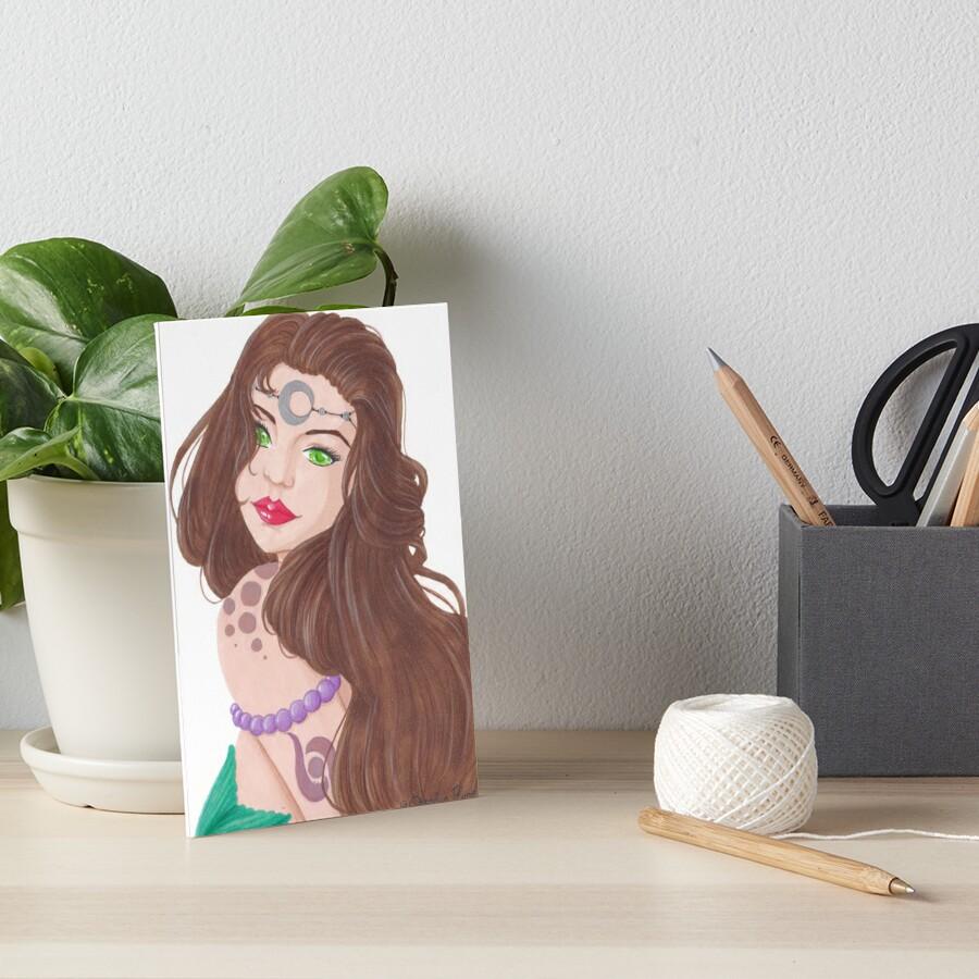 « Sirène brune tatouée » par Omelia-Plude