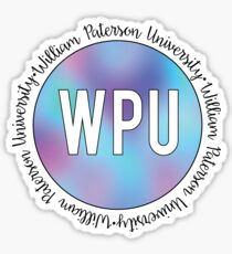 William Paterson University - color blur Sticker