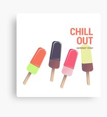 Ice Cream - Chill out Canvas Print