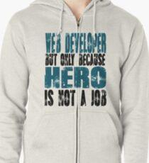 Web Developer Hero Zipped Hoodie