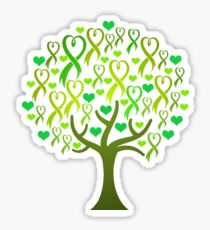 Raising Support & Awareness - Charity Ribbon Tree (Green) Sticker