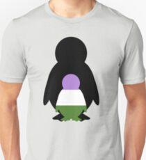 Genderqueer Mama Penguin Unisex T-Shirt