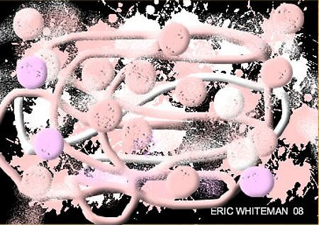 (PINK, WHITE &BLACK ) ERIC WHITEMAN  ART  by eric  whiteman