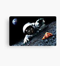 Space Cat Wants Pizza Canvas Print