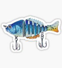Blauer Fischköder Sticker