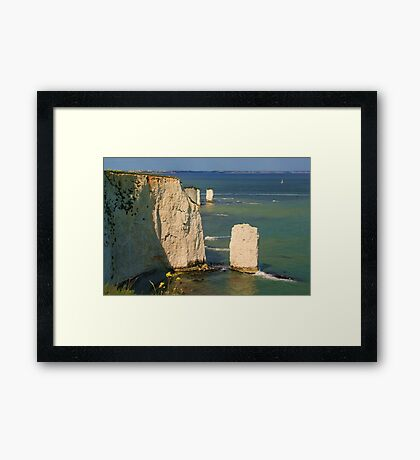The Pinnacles & Old Harry Framed Print