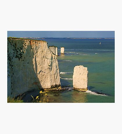 The Pinnacles & Old Harry Photographic Print