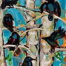 Crow in Poplars by SHANNON BUEKER