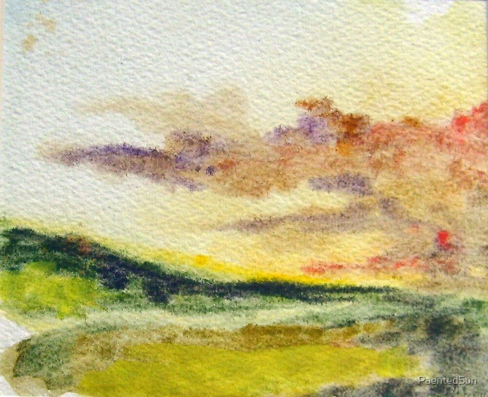 Valley Sunset by PaentedSun