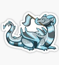 Demiboy Pride Flag Dragon Sticker